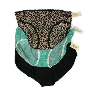 Soma Panties Enticing Hipster Lot of 3 Lace Trim